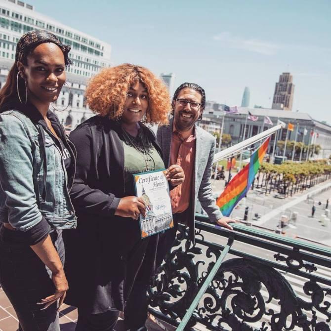 LGBTQI+ Flag Raising Ceremony; San Francisco City Hall