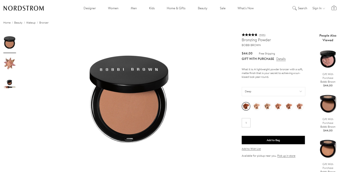 bobbi brown bronzer
