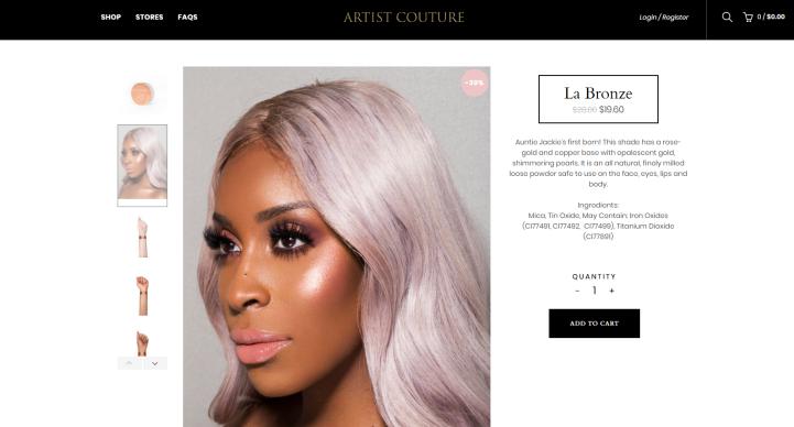 la bronze artist couture